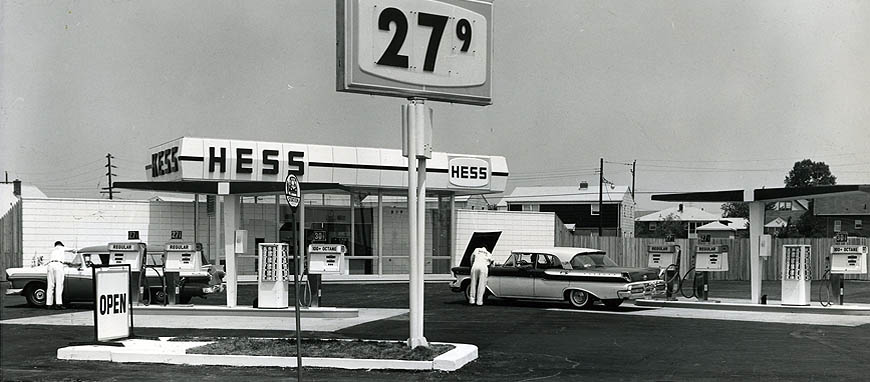 Hess Gas Station 1960